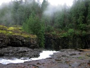 Above Elk Falls